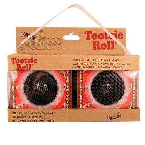 Tootsie Roll branded audio speakers