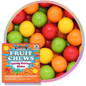 Tootsie Candy Coated Fruit Chews Product Image