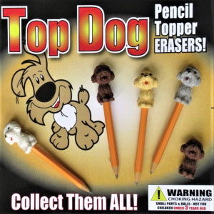 "Top Dog Erasers 2"" Capsules Product Image"