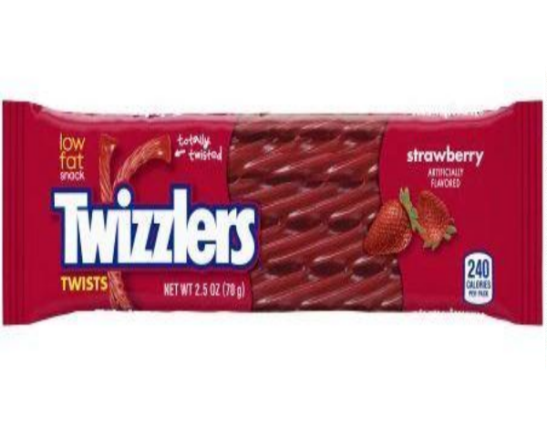 twizzlers twizzler strawberry fruit twist candy front of 2.5 oz pack