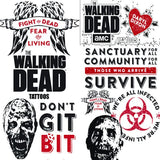 Walking Dead tattoos display card