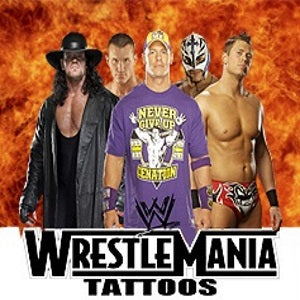 WWE Wrestling vending Tattoos