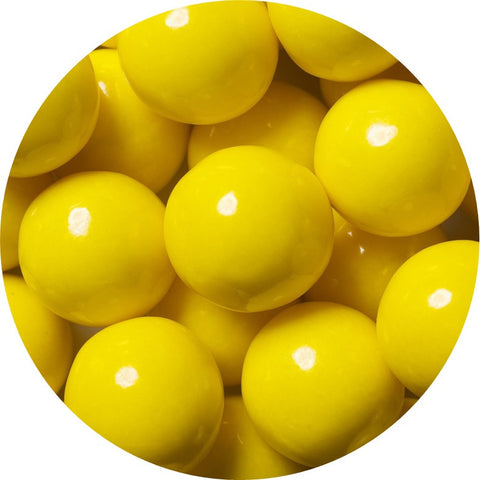 1-inch yellow colored gumballs in 2 pound bag