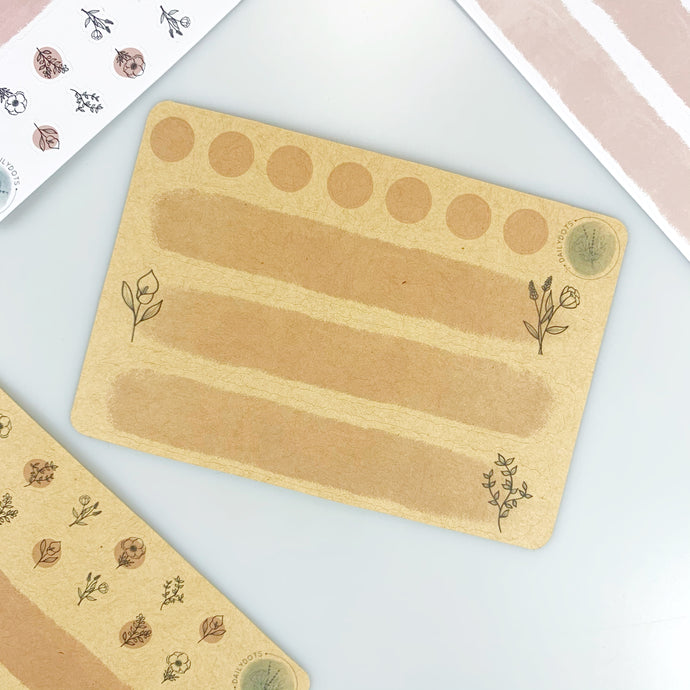 DailyDots Secret Garden stickers i kraftpapir -