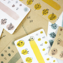 "Load image into Gallery viewer, DailyDots Secret Garden stickers - ""Hay There Yellow"""