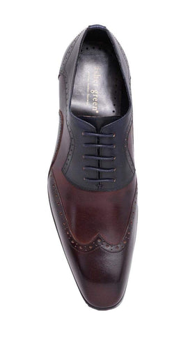 Asher Green Half Brown Half Navy Oxford Leather Dress Shoe