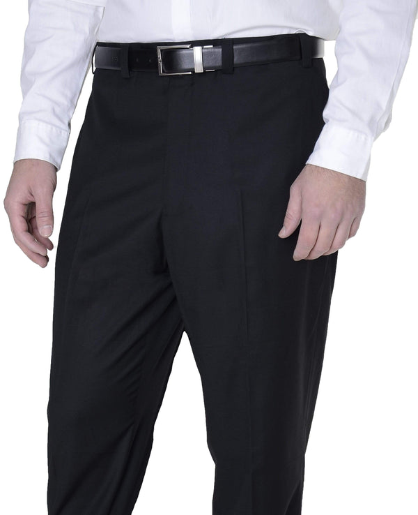 Calvin Klein PANTS 32X34 Calvin Klein Classic Fit Solid Black Flat Front Washable Dress Pants