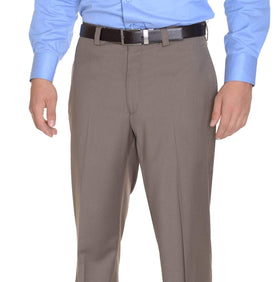 Calvin Klein Classic Fit Taupe Brown Flat Front Washable Dress Pants