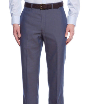 Calvin Klein Extreme X Slim Fit Blue Pindot Flat Front Washable Dress Pants