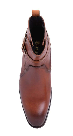 Carrucci Mens Whisky Brown Leather Jodhpur Dress Boots