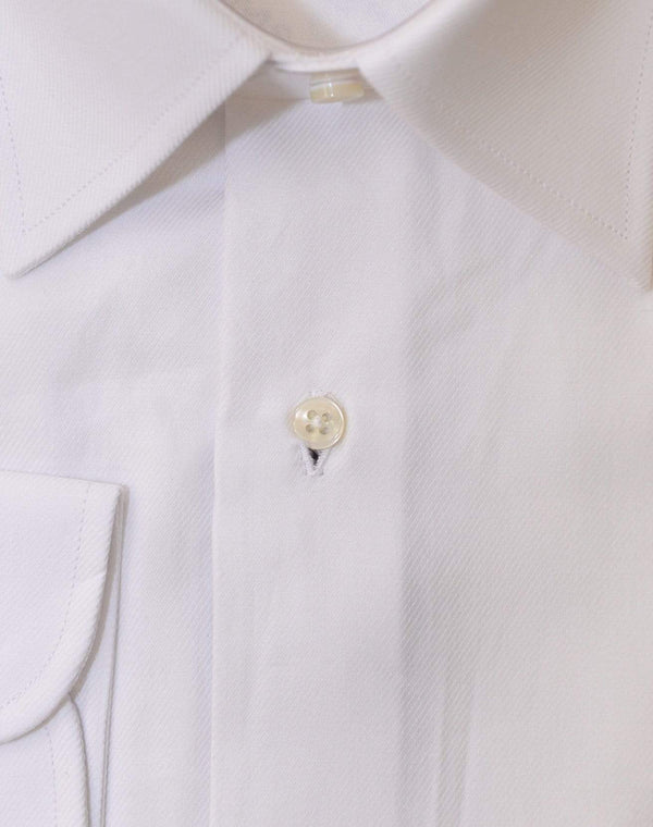 Chams SHIRTS Chams Classic Fit Solid White Fine Combed Cotton Dress Shirt