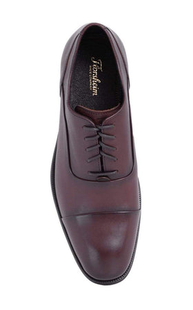 Florsheim Solid Dark Brown Cap Toe Oxford Leather Dress Shoes