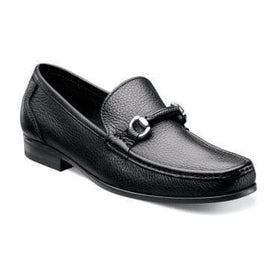 Florsheim Felix Mens Solid Black Slip On Loafer Dress Shoes With Bit