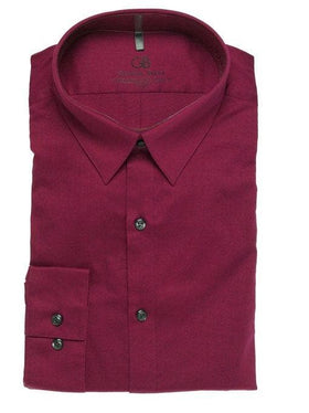 Geoffrey Beene Slim Fit Solid Purple Harmony Stretch Cotton Blend Dress Shirt