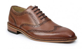 Giorgio Brutini Rant Brown Wingtip Oxfords Leather Dress Shoes
