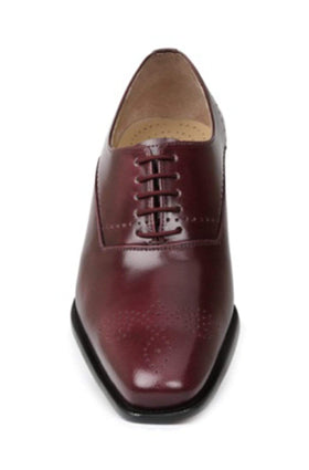 Giorgio Brutini Candler Burgundy With Brogue Detail Oxford Leather Dress Shoe