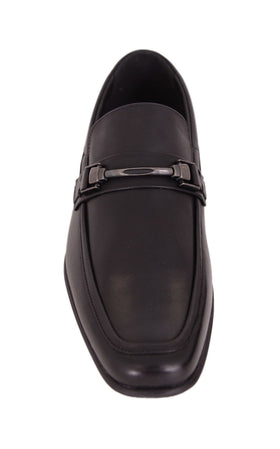 Giorgio Brutini Shard Black Apron Toe Slip On Loafer Leather Dress Shoes