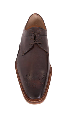 Giorgio Brutini Reddington Dark Brown Leather Lace Up Oxford Dress Shoes