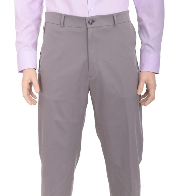 Haggar Sale Pants 38X30 Haggar Straight Fit Solid Gray Comfort Waist Flat Front Washable Dress Pants