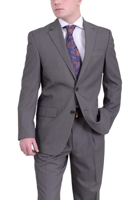 Izod Classic Fit Gray Nailhead Two Button Pleated Suit