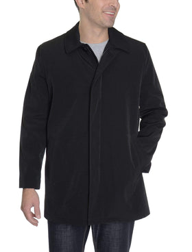 Kenneth Cole NY Slim Fit Black Water Repellent Raincoat With Removable Lining