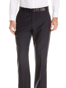 Perry Ellis Modern Fit Blue Pinstriped Flat Front Washable Dress Pants
