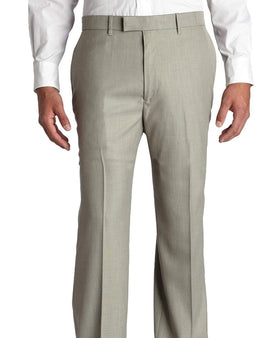 Perry Ellis Classic Fit Gray Textured Flat Front Non Iron Washable Dress Pants