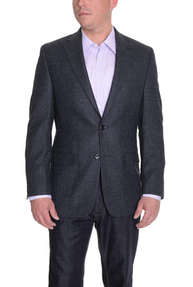 Ralph Lauren Mens Gray Blue Tweed Textured Two Button Wool Blazer Sportcoat