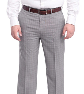 Ralph Lauren Classic Fit Gray Plaid Flat Front Washable Dress Pants