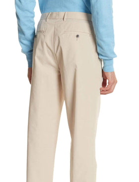 Lauren Ralp Lauren Regular Fit Solid Tan Flat Front Cotton Dress Pants