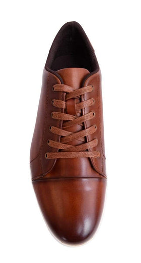 Mens Stacy Adams Cognac Brown Leather Lace Up Versatile Sneakers Casual Shoes