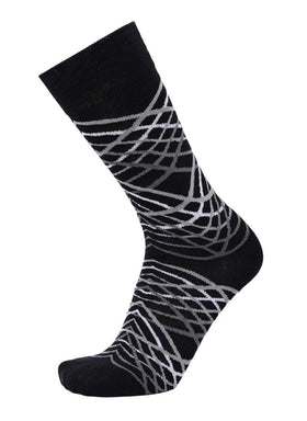 Tallia Mens Black & Gray Striped Cotton Blend Dress Socks