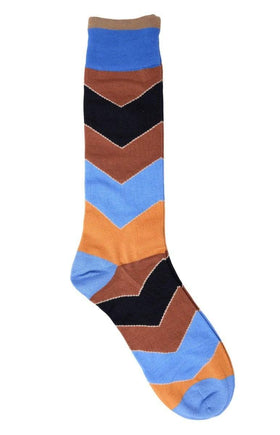 Tallia Mens Brown Blue & Black Cotton Blend Dress Socks