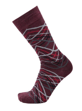 Tallia Mens Burgundy Striped Pattern Cotton Blend Dress Socks