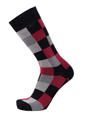 Tallia Mens Gray Black & Red Cotton Blend Dress Socks