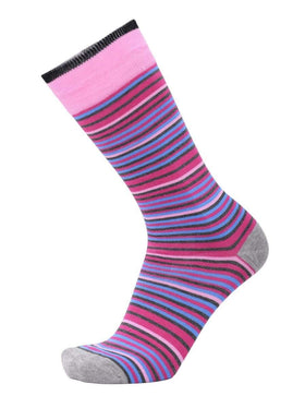 Tallia Mens Pink Striped Cotton Blend Dress Socks