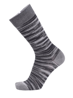 Tallia Orange Gray & Black Camo Print Cotton Blend Dress Socks