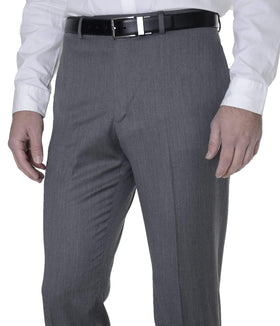 Tommy Hilfiger Mens Trim Fit Gray Textured Flat Front Wool Dress Pants