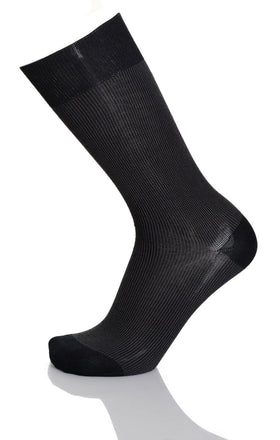 Vannucci Couture Charcoal Gray With Diamond Pattern Cotton Blend Dress Socks
