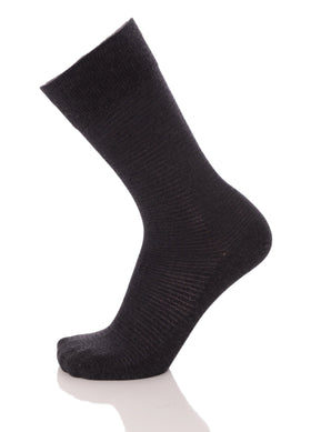 Vannucci Couture Charcoal Gray Check Cotton Blend Dress Socks