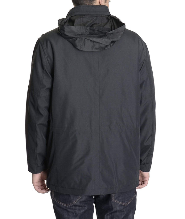 Weatherproof Casual Coats Weatherproof Solid Black Winter Jacket Coat With Packable Hood