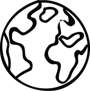 Doodle graphic of a Climate Positive earth
