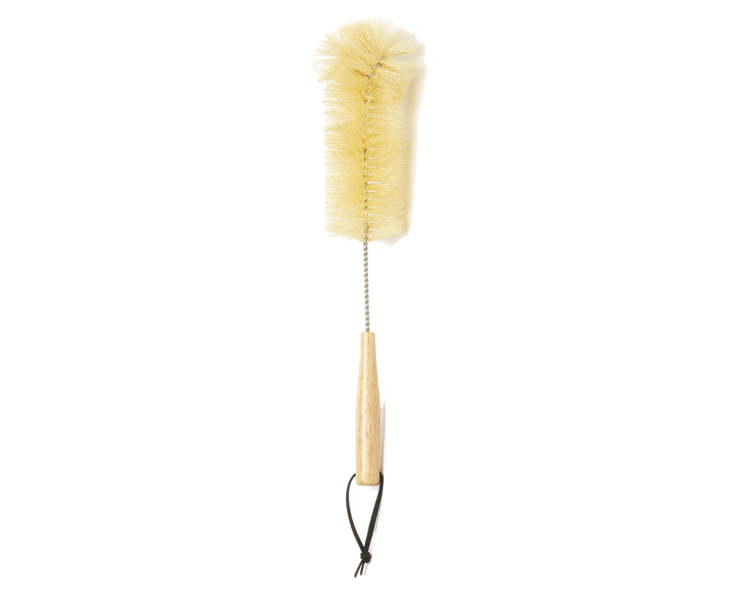 Hitch Bottle Brush with Natural Sisal Fibers, a stainless steel rod, and wooden handle