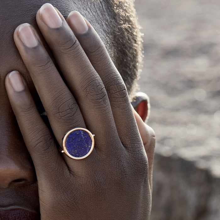 Bague Ginette NY Ever Lapis Disc