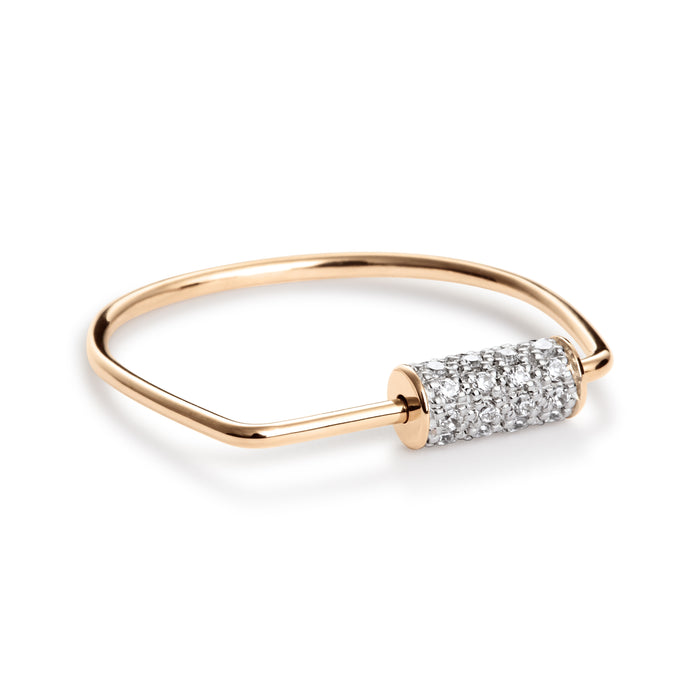 Bague Ginette NY Mini Straw Diamants