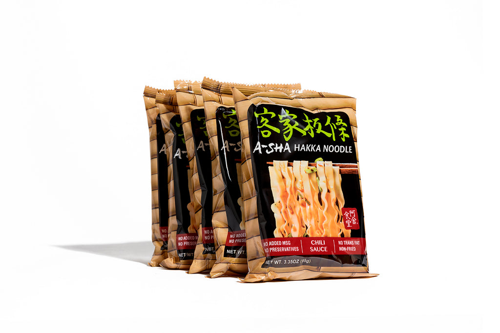 Hakka Wide Noodles - chili flavor (individual pack)