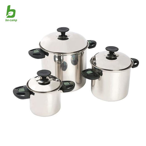 Bo-Camp Elegance Pan Set Stainless Steel - 3 Pans - Pots &
