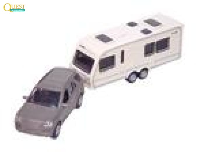 Quest Car With Towed Caravan Toy