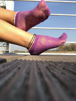 Floral Mesh Ankle Socks (Purple) by Global Trendz