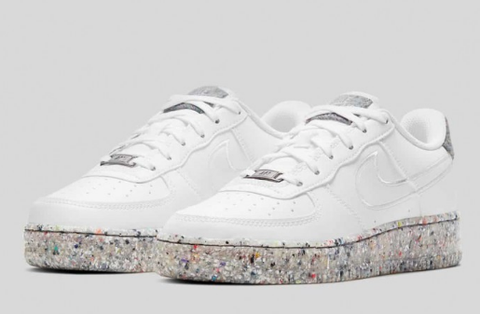 """Nike Air Force 1 Low GS """"Crater"""" White"""